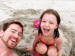 Elizabeth and I had so much fun building sand castles.