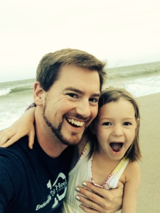 Elizabeth and I stopped for a selfie on the beach, right before the tide crept up on us.