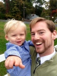 Here I am with my son, Ian, after church.
