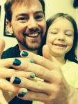 Nobody can paint Elizabeth's fingernails like Daddy :-)