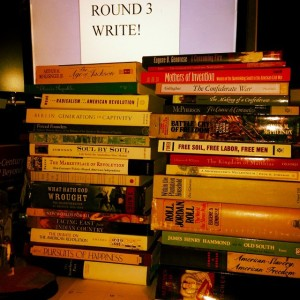 I was always reading this semester.  These were just the books that would fit on my desk.  I had to read even more.