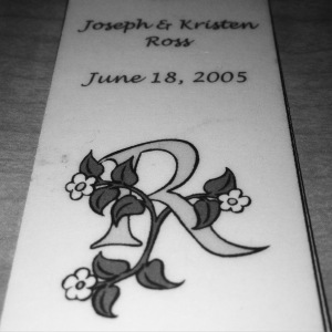 Our wedding bookmark.