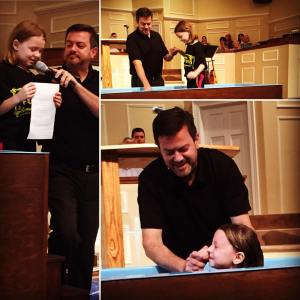 """""""I baptize you in the name of the Father and the Son and the Holy Spirit."""""""