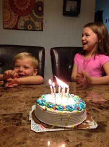 When Lauren bought a cake on Kristen's birthday so that my kids could blow out the candles, I knew she was a keeper.